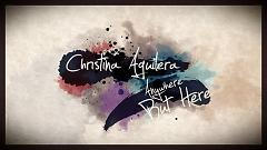 Anywhere But Here (Lyric Video) - Christina Aguilera