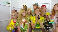 Interview (150717 Music Bank) - SNSD, Girl's Day