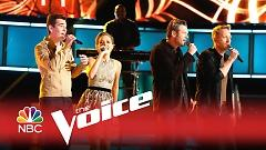Lean On Me (The Voice 2015) - Blake Shelton, Barrett Baber, Emily Ann Roberts, Zach Seabaugh